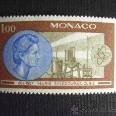 Sellos: MONACO Nº YVERT 732***AÑO 1967. CENTENARIO NACIMIENTO MARIE CURIE. Lote 295749673