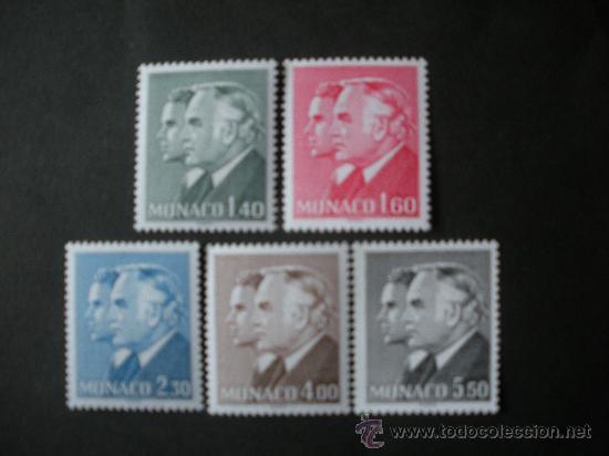 MONACO 1981 IVERT 1281/5 *** SERIE BÁSICA - PRINCIPES RAINIERO III Y ALBERTO - MONARQUÍA (Sellos - Extranjero - Europa - Mónaco)