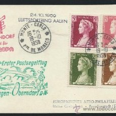 Sellos: 1959. MONACO A ALEMANIA. POSTAL. Lote 36149150