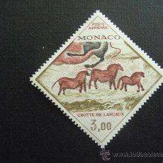 Timbres: MONACO ,Nº YVERT AEREO 95***AÑO 1970. PINTURA RUPESTRE. GRUTA DE LASCAUX. Lote 210697816