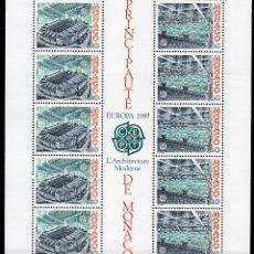 Sellos: MÓNACO AÑO 1987 YV HB 37*** EUROPA - ARQUITECTURA MODERNA - ESTADIO LUÍS II - DEPORTES. Lote 39626324