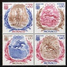 Sellos: MÓNACO AÑO 1972 YV 890/93*** [::] JUEGOS OLIMPICOS DE MUNICH EQUITACIÓN DEPORTES FAUNA CABALLOS. Lote 39626721