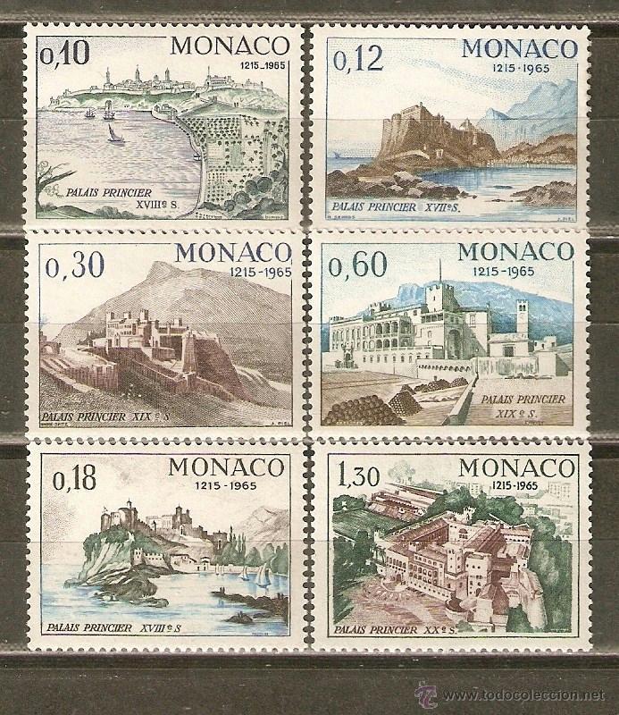 MONACO YVERT NUM. 677/82 ** SERIE COMPLETA SIN FIJASELLOS 0,10 Y 0,12 PEQUEÑO DEFECTO EN LA GOMA (Sellos - Extranjero - Europa - Mónaco)