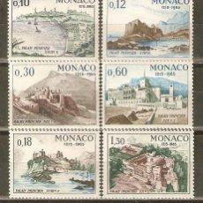 Sellos: MONACO YVERT NUM. 677/82 ** SERIE COMPLETA SIN FIJASELLOS 0,10 Y 0,12 PEQUEÑO DEFECTO EN LA GOMA. Lote 40004463