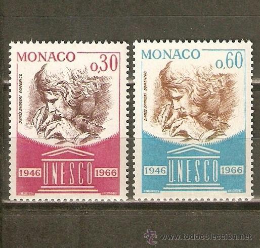 MONACO YVERT NUM. 700/1 ** SERIE COMPLETA SIN FIJASELLOS (Sellos - Extranjero - Europa - Mónaco)
