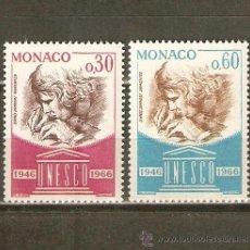 Sellos: MONACO YVERT NUM. 700/1 ** SERIE COMPLETA SIN FIJASELLOS. Lote 40004545