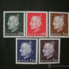Sellos: MONACO 1974 IVERT 992/6 *** PRINCIPE RAINIERO III - MONARQUIA - PERSONAJES. Lote 40284334