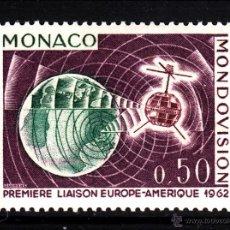 Sellos: MONACO 612* - AÑO 1963 - PRIMERA TRANSMISION DE TELEVISION POR SATELITE. Lote 40855420