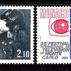 Sellos: MONACO 1446/47** - AÑO 1984 - 25º ANIV. DEL FESTIVAL INTERNACIONAL DE TELEVISION DE MONTE CARLO. Lote 40902697