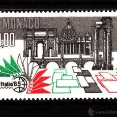 Sellos: MONACO 1491** - AÑO 1985 - EXPOSICIÓN MUNDIAL DE FILATELIA ITALIA 85, ROMA - MONUMENTOS. Lote 40927478