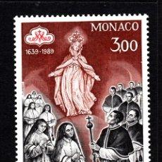 Sellos: MONACO 1677** - AÑO 1989 - 350º ANIVERSARIO DE LA COFRADIA DE LA MISERICORDIA. Lote 40980055