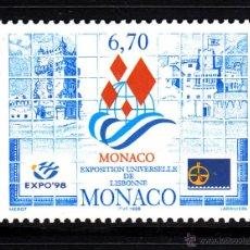 Sellos: MONACO 2172** - AÑO 1998 - EXPOSICION UNIVERSAL DE LISBOA EXPO 98. Lote 40980060