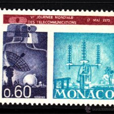 Sellos: MONACO 926** - AÑO 1973 - DIA MUNDIAL DE LAS TELECOMUNICACIONES. Lote 41197881