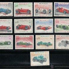 Timbres: MONACO 1967, YVERT 708/21 ** 25 GRAN PRIX DEL AUTOMOVIL DE MONACO , TEMA COCHES. Lote 41619008
