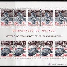 Sellos: MÓNACO AÑO 1988 YV HB 41*** EUROPA - MEDIOS DE TRANSPORTE Y COMUNICACIONES - FERROCARRILES - AVIONES. Lote 42011036