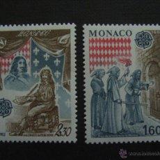 Sellos: MONACO Nº YVERT 1322/3*** AÑO 1982. EUROPA. HECHOS HISTORICOS. Lote 43557240