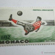 Sellos: SELLO-MÓNACO-1963-FOOTBALL ASSOCIATION-PERFECTO ESTADO.. Lote 43917806