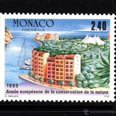 Sellos: MONACO 1979** - AÑO 1995 - AÑO EUROPEO DE LA CONSERVACION DE LA NATURALEZA. Lote 44462600
