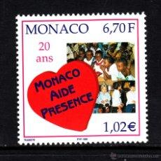 Sellos: MONACO 2191** - AÑO 1999 - 20º ANIVERSARIO DE LA ASOCIACIÓN MONACO AYUDA Y PRESENCIA. Lote 44462645