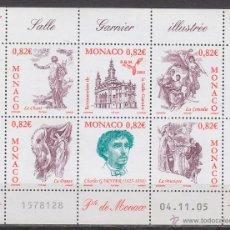 Sellos: MONACO 2508/13, RESTAURACIÓN DE LA SALA GARNIER, NUEVOS *** EN HOJA. Lote 45300009