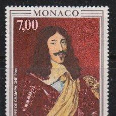 Sellos: MONACO 1788, 350 ANIVERSARIO DEL TRATADO DE PERONNE ENTRE FRANCIA Y MONACO, LUIS XIII, NUEVOS ***. Lote 45300249