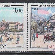 Sellos: MONACO 1385/6, MONACO EN LA BELLE EPOQUE (LAS TERMAS Y EL CAFÉ PARIS), NUEVO ***. Lote 45315038
