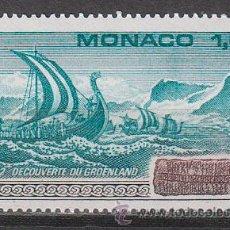 Sellos: MONACO 1356, MILENARIO DEL DESCUBRIMIENTO DE GROENLANDIA POR EL JEFE VIKINGO ERIK EL ROJO, NUEVOS***. Lote 45488068
