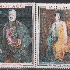 Sellos: MONACO 1286/7, PRINCIPES DE MONACO: LUIS II Y PRINCESA CHARLOTTE, NUEVOS***. Lote 45488410