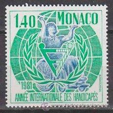 Sellos: MONACO 1276, AÑO INTERNACIONAL DE LAS PERSONAS DISCAPACITADAS, NUEVO ***. Lote 45501782
