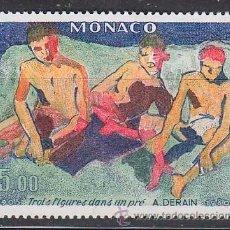 Sellos: MONACO 1244, DERAIN, TRES FIGURAS EN UN PRADO, NUEVO ***. Lote 45502004