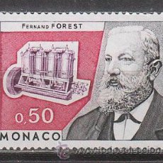 Sellos: MONACO, HOMENAJE A FERNAND FOREST (INVENTOR DEL MOTOR DE EXPLOSION), NUEVO ***. Lote 46156723