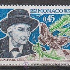 Sellos: MONACO IVERT 923, 150 ANIVERSARIO DEL ENTOMOLOGO J. H. FABRE, NUEVO ***. Lote 46174729