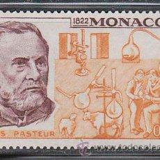 Sellos: MONACO IVERT 913, 150 ANIVERSARIO DE PASTEUR, NUEVO ***. Lote 46174854
