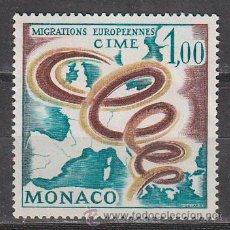 Sellos: MONACO IVERT 728, COMITE INTERGUBERNAMENTAL PARA LA EMIGRACIÓN EUROPEA, NUEVO ***. Lote 47288489