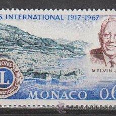 Sellos: MONACO IVERT 725, 50 ANIVERSARIO DE LIONS INTERNACIONAL, NUEVO ***. Lote 47288532