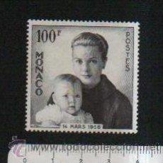 Sellos: MÓNACO.1958.NACIMIENTO DEL PRÍNCIPE ALBERTO.100 FRANCOS.NUEVO.. Lote 47312167