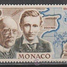 Sellos: MONACO IVERT 674, MARCONI Y EDUARD BRANLY, NUEVO ***. Lote 47346903