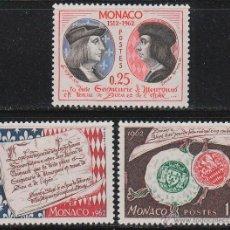 Sellos: MONACO IVERT 576/8, 450 ANIVERSARIO DE LA SOBERANIA MONEGASCA, NUEVOS ***. Lote 47412875