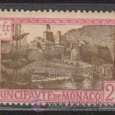 Sellos: MONACO IVERT 100, PUERTO DE MONACO, NUEVO CON CHARNELA (AÑO 1924). Lote 48017083