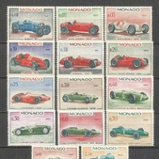 Sellos: MONACO AUTOMOVILES GRAN PRIX YVERT NUM. 708/21 SERIE -1 SELLO SIN GOMA SE VENDE A PRECIO DE USADO. Lote 54511294