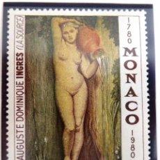 Sellos: SELLOS MONACO 1980. NUEVO. PINTURAS. INGRES.. Lote 48650812