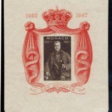 Sellos: HOJA BLOQUE Nº 2 DE MONACO 1947. Lote 52138701