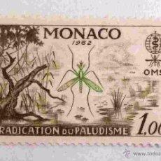 Timbres: SELLOS MONACO 1962. NUEVO. ANTI MALARIA. ERRADICACION DEL PALUDISMO. ANTIPALUDISMO.. Lote 52336824