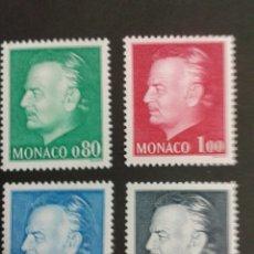 Sellos: SELLOS DE MÓNACO. YVERT 1079/82. SERIE COMPLETA NUEVA SIN CHARNELA. RAINIERO DE MÓNACO. Lote 52756362