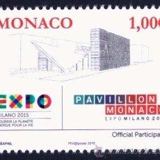 Sellos: MONACO 2015 EXPOSICION UNIVERSAL MILANO 2015. Lote 53577357