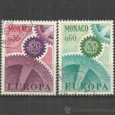 Sellos: MONACO EUROPA YVERT NUM. 729/730 SERIE COMPLETA USADA. Lote 262220400