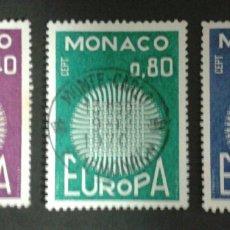 Sellos: SELLOS DE MÓNACO. EUROPA CEPT. YVERT 819/21. SERIE COMPLETA USADA.. Lote 54152393