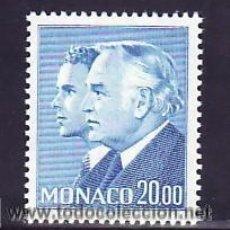 Sellos: MONACO 1988 IVERT 1614 *** SERIE BÁSICA - PRINCIPES RAINIERO III Y ALBERTO. Lote 54630013