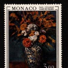 Sellos: MONACO 1972 IVERT 886 *** FLORAL INTERNACIONAL EN MONTECARLO - PINTURA DE PAUL CEZANNE. Lote 55570706