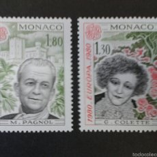 Sellos: SELLOS DE MÓNACO. EUROPA CEPT. YVERT 1224/5. SERIE COMPLETA NUEVA SIN CHARNELA.. Lote 55939455